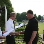 Kreisverbandsvorsitzender Michael Weber bei der Siegerehrung