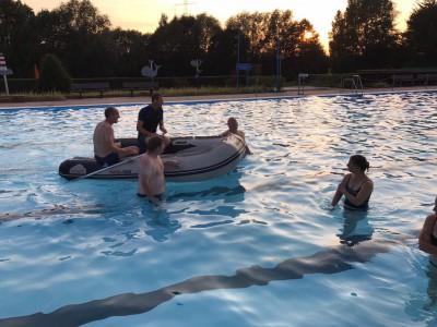 Übung im Wasser